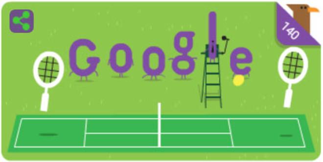 Doodle de Google sobre el torneo de Wimbledon