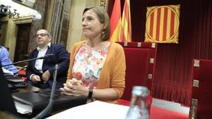 La presidenta del Parlament, Carme Forcadell, durante el debate de la ley de transitoriedad jurídica.