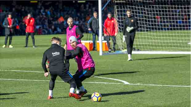 Primer entrenament obert del Barcelona del 2018
