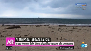 Un fort temporal expulsa 'Supervivientes' de Cayos Cochinos