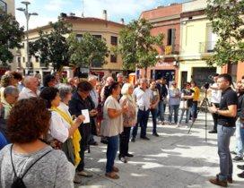 Acto en conmemoración del aniversario del 1-O de este lunes en Rubí
