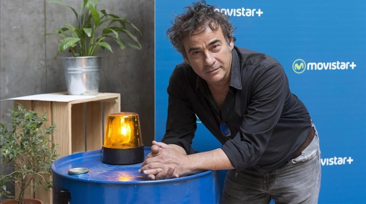 El actor Eduard Fernández, en la presentación de la serie La zona.