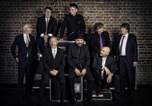 La actual formación de la banda King Crimson.