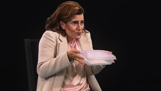 Ada Colau con el táper ('Polònia', TV-3).