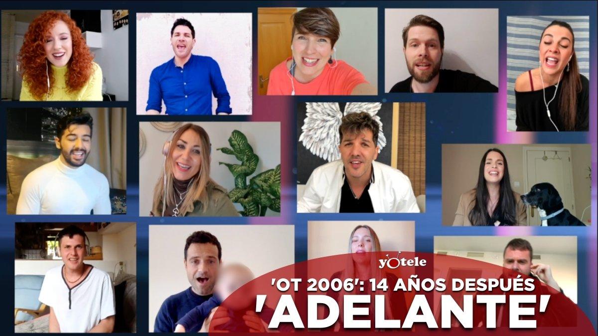 Els concursants d''OT 2006' es retroben per cantar 'Adelante' en suport als professionals sanitaris