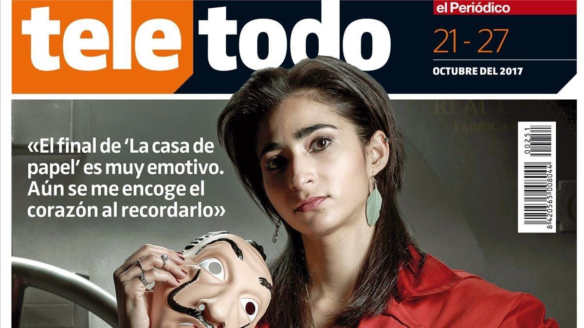 Alba Flores, en la portada de 'Teletodo'.