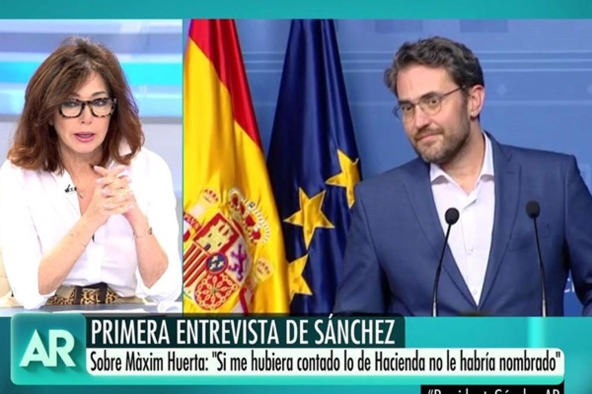 """Ana Rosa, tras la entrevista de Pedro Sánchez: """"Fue muy duro con Màxim"""""""