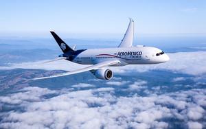 Un avión de Aeroméxico.