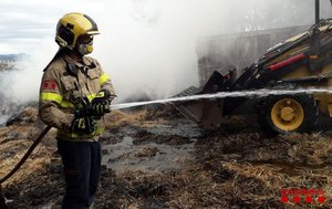 Incendi en una hípica a prop de Terrassa