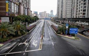 Calles desiertas de Shangai