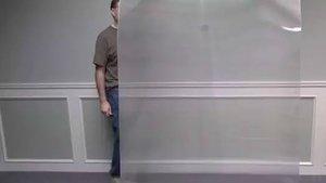 Demostración del material para invisibilizar personas o cosas.