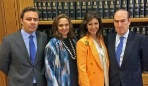 Dimas Gimeno, Marta Álvarez Guil, Cristina Álvarez Guil y Florencio Lasaga.