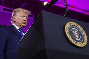 Donald Trump, en el atril presidencial.