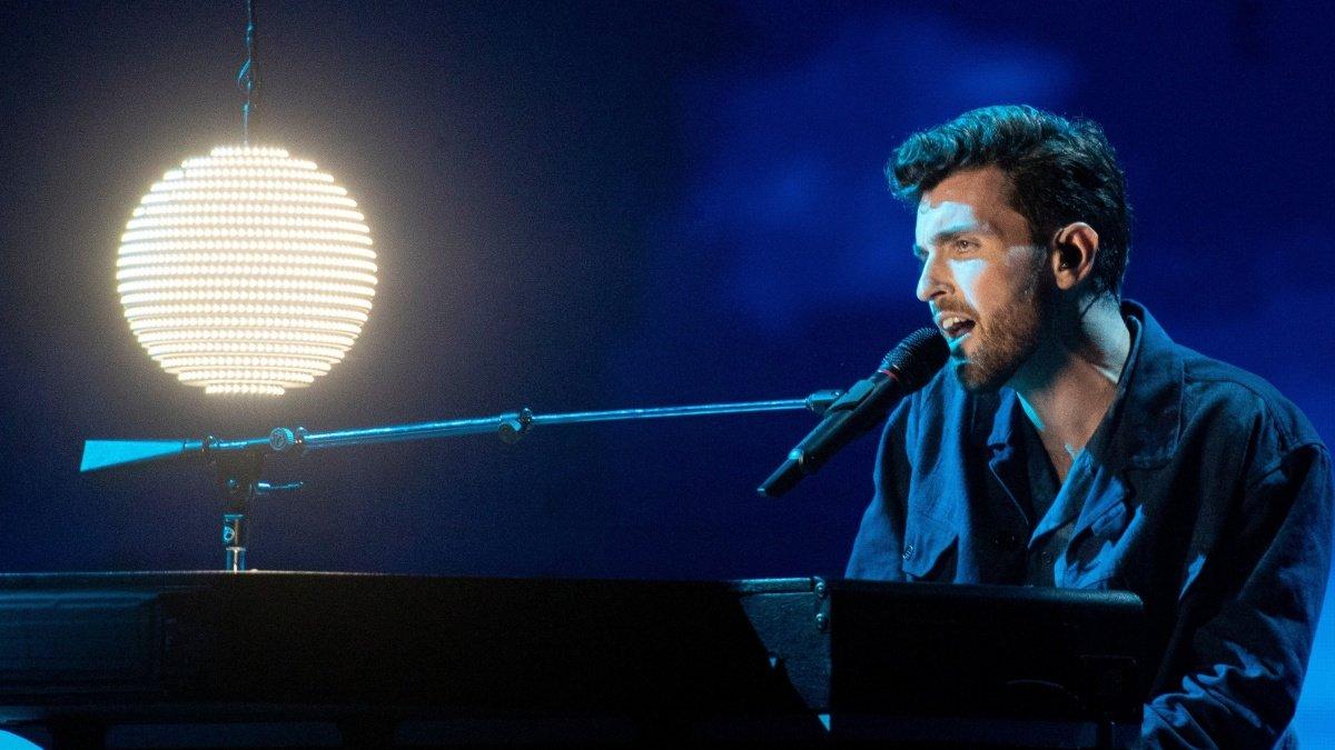 Duncan Laurence en el Festival de Eurovisión 2019.
