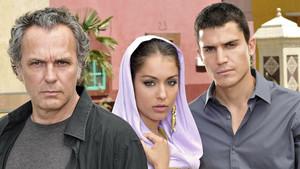 José Coronado, Hiba Abouk y Álex González.