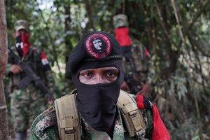 Miembros del Ejército de Liberación Nacional de Colombia.