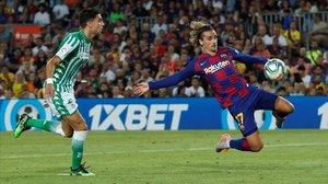 Griezmann ha marcado en esta jugada su primer gol en el Camp Nou.