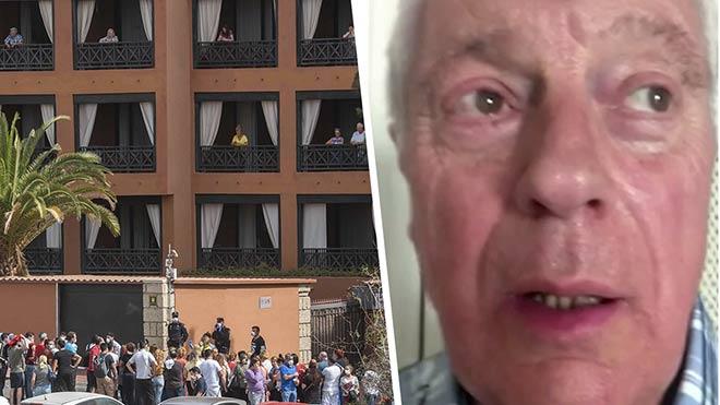 """Habla un turista confinado en el hotel de Tenerife: """"hay 60 trabajadores en la puerta con mascarillas"""""""