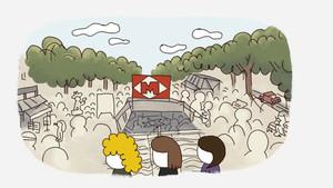 Una imagen de la serie Heavies tendres.
