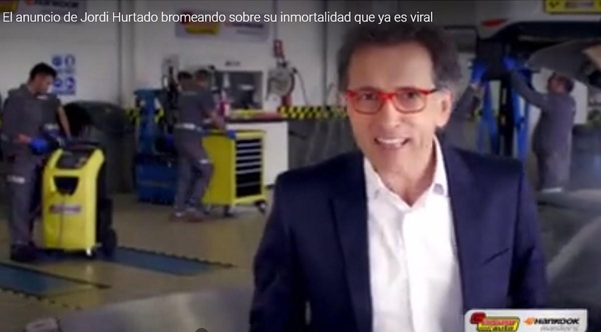Jordi Hurtado, en una imagen del anuncio en el que bromea sobre su inmortalidad.
