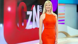 La presentadora Anne Igartiburu en el plató de Corazón del 2018.