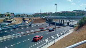 Imagen de los nuevos accessos de la C32 en Mataró Oeste.