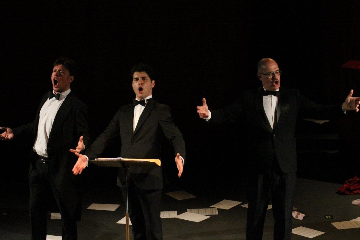 Los tres divertidos 'Tenors', en el Teatre Gaudí.