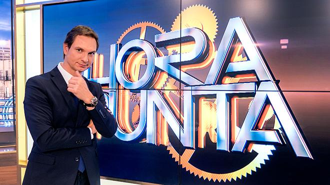 Entrevista con Javier Cárdenas,el presentador de Hora punta, de TVE-1.