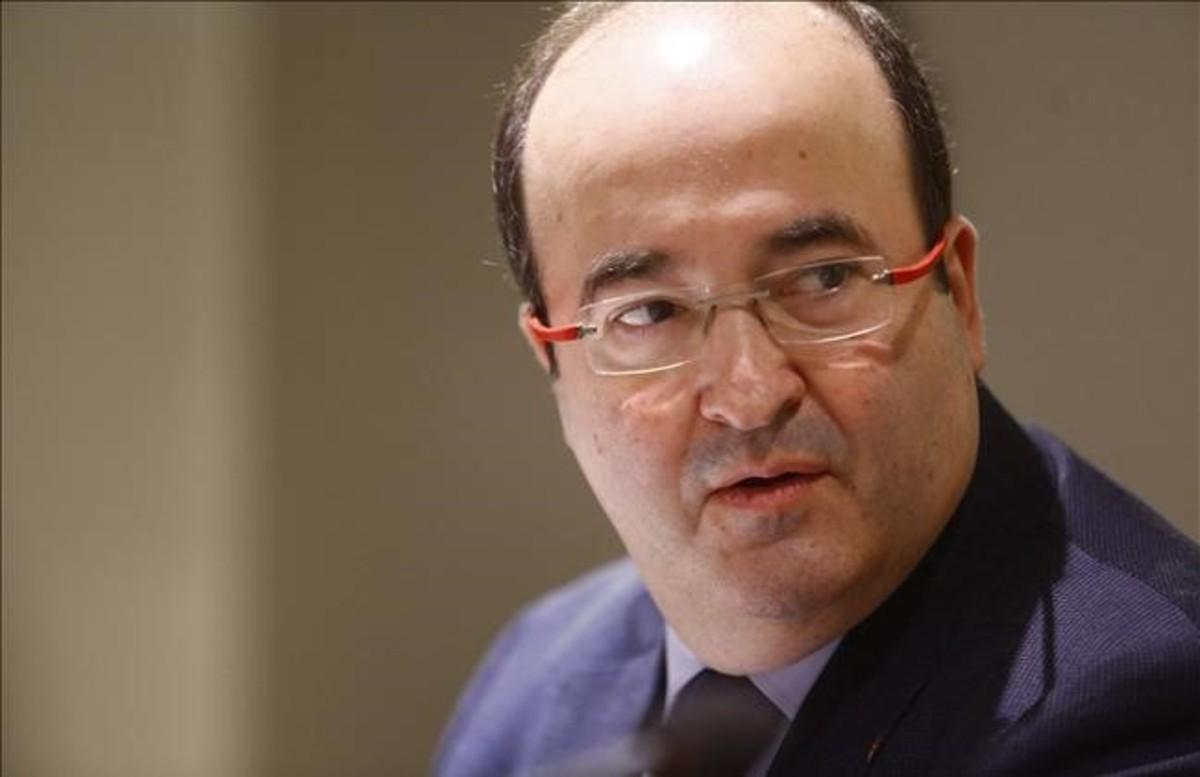 El líder del PSC, Miquel Iceta.