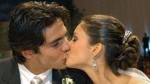 Kaká y Caroline Celico, en su boda, en el 2005.