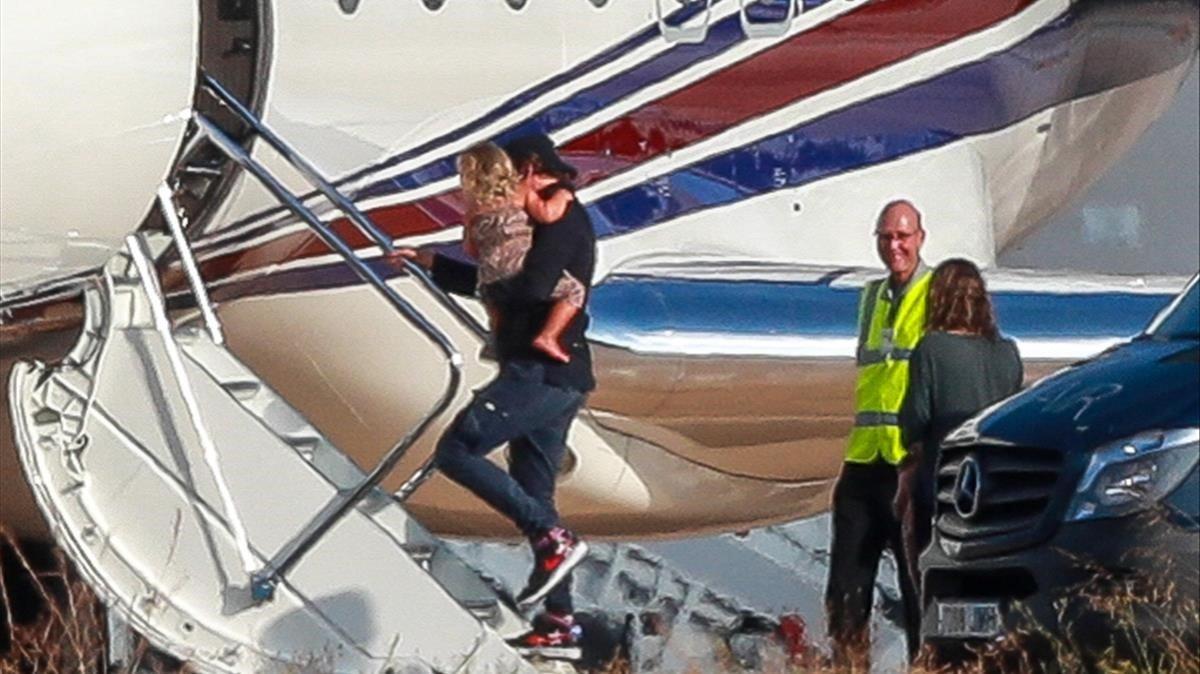 Bradley Cooper, con su hija Lea, el pasado sábado.