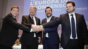 Los líderes de la ultraderecha europea.