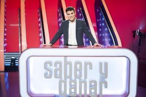 Luis Larrodera, en el plató de Saber y ganar.