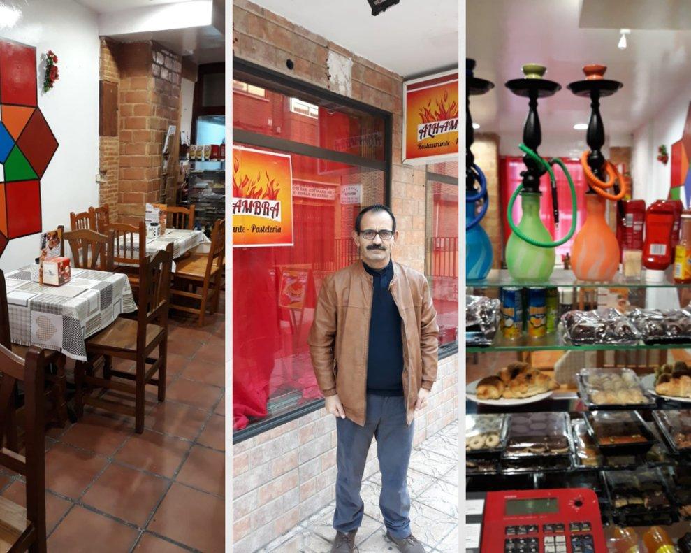Mahmoud Hamoud Rastanagui ha montado un restaurante de comida árabe en Alcobendas, Madrid.