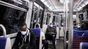 El metro de París, este jueves.