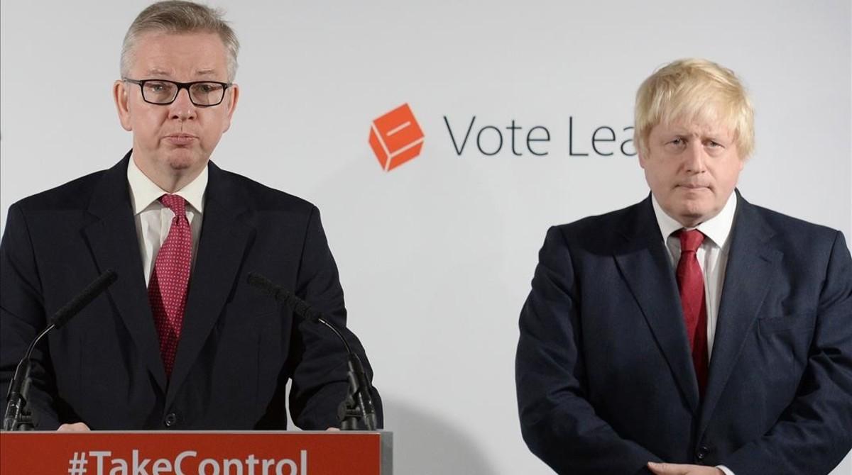 Michael Gove (izquierda) y Boris Johnson durante la campaña a favor delbrexit.