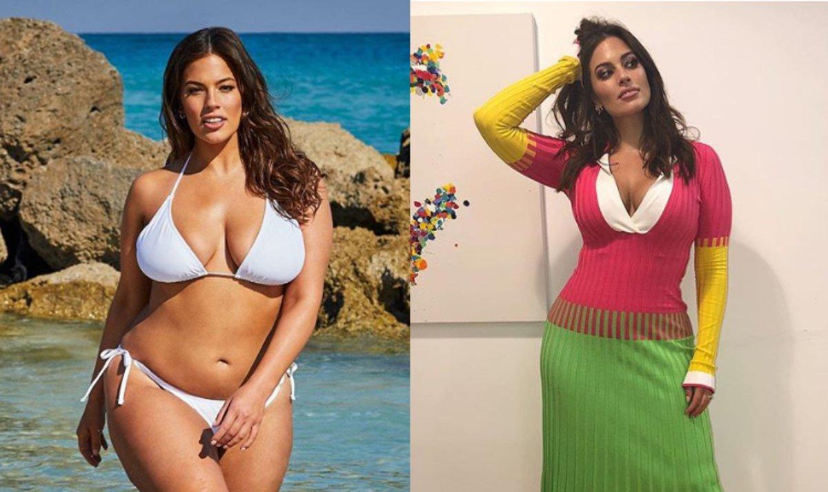 La model de talles grans Ashley Graham, durament criticada per haver perdut pes
