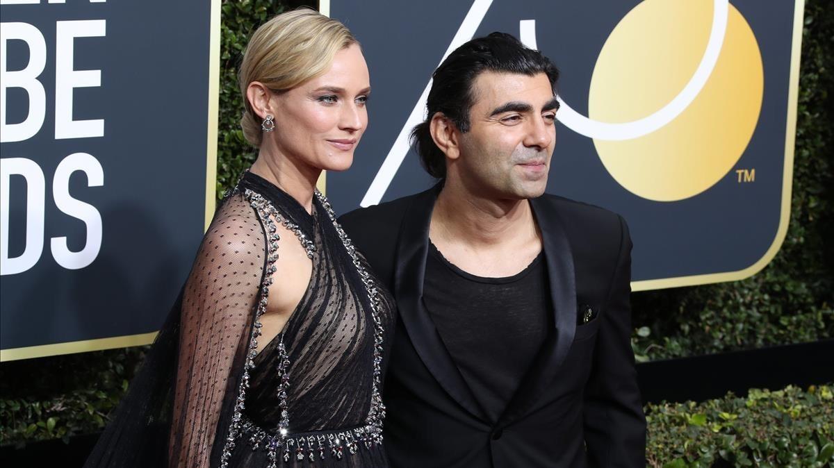 La modelo Diane Kruger y el cineasta alemán Fatih Akin.