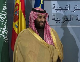 FILE - In this April 12 2018 file photo Saudi Crown Prince Mohammed bin Salman prepares to leave after a signing ceremony with Spain s Prime Minister Mariano Rajoy in Madrid Spain The killing of Saudi journalist Jamal Khashoggi at the kingdoma s consulate in Istanbul on Oct 2 2018 is unlikely to halt Salmana s rise to power but could cause irreparable harm to relations with Western governments and businesses potentially endangering his ambitious reform plans AP Photo Paul White File