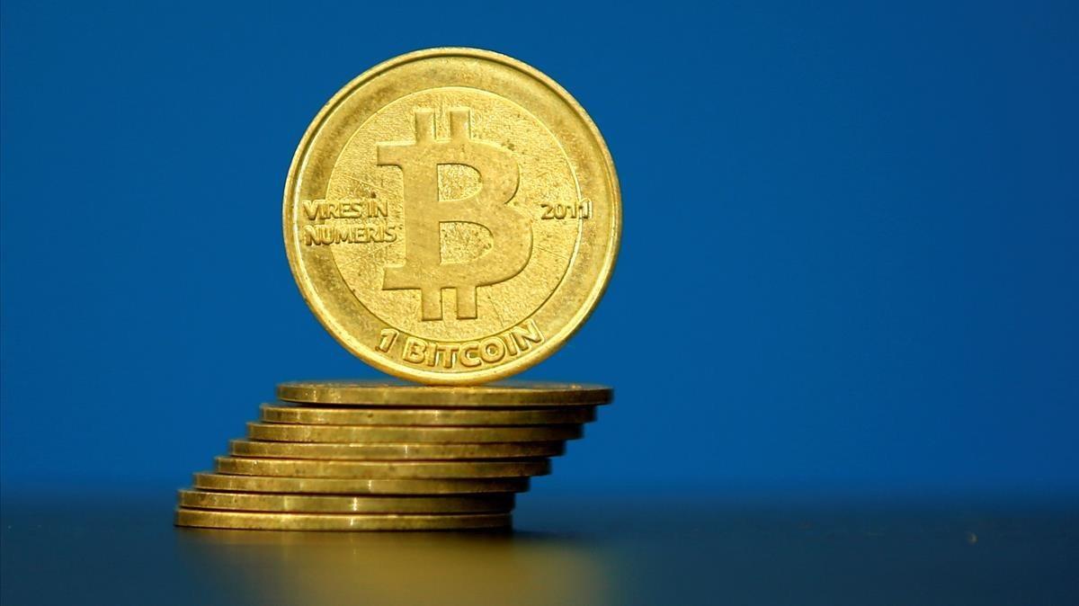 Monedas bitcoins.