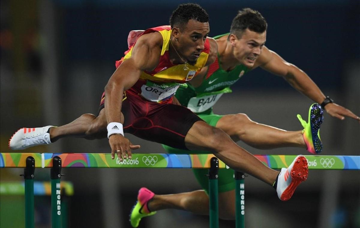 Orlando Ortega, subcampeón olímpico de 110 metros vallas.
