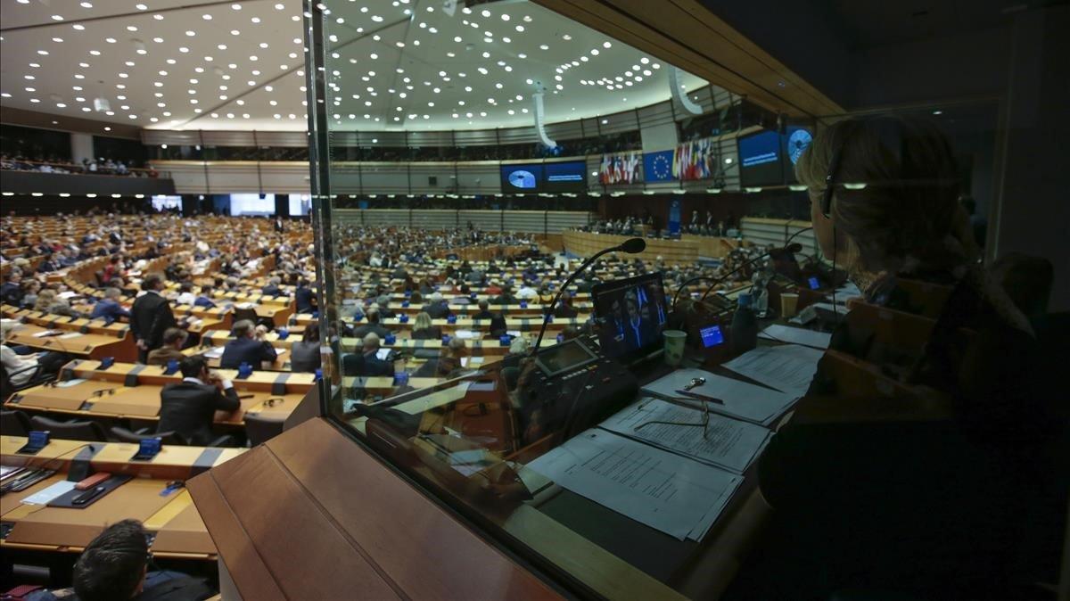Plenario del Parlamento Europeo de este miércoles.