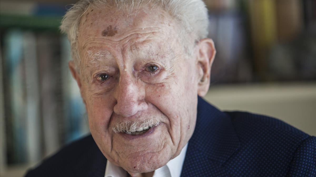 Pere Quintana, jubilado de 101 años.
