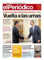 La portada de EL PERIÓDICO del 18 de septiembre del 2019.