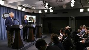 Presentación de la nueva estrategia nuclear de EEUU en el Pentágono.