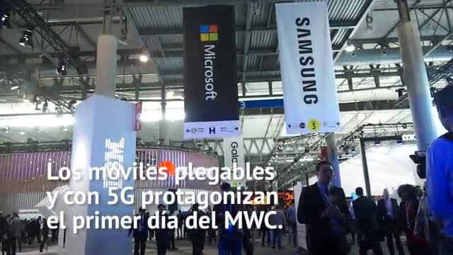 Primer día del Mobile World Congress 2019, la gran feria de telefonía móvil de Barcelona.