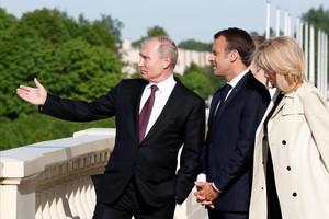 Putin y Macron, en San Petersburgo.