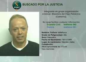 Raffaelle Vellefuoco (56) es buscado por la Justicia de su país por su supuesta implicación en delitos de homicidio, narcotráfico, uso de violencia y chantaje.