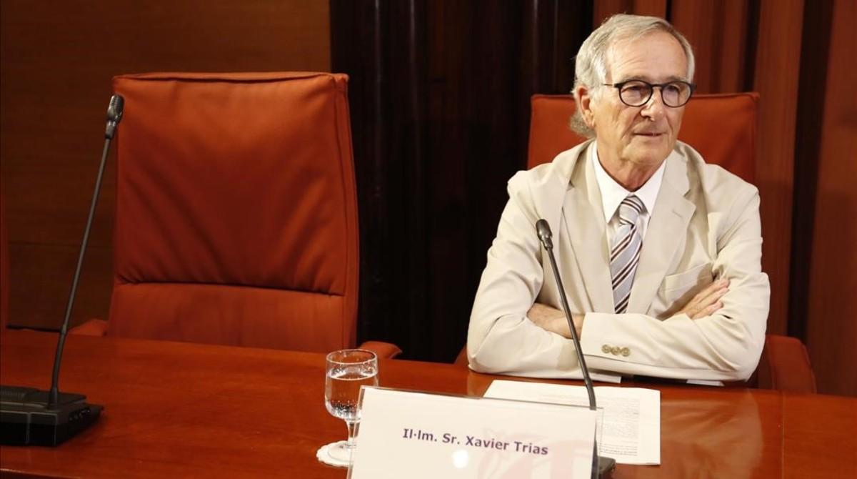 El exalcalde de Barcelona Xavier Trias, en la comisión de investigación sobre la operación Cataluña.