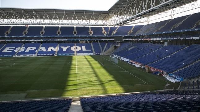 Aspecto del estadio de Cornellà-El Prat.
